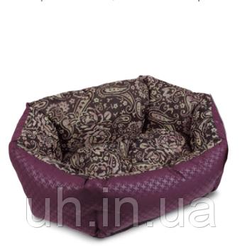 """Лежак для собак Природа Pet Fashion """"КОКОС"""" 3 орнамент-бордо"""