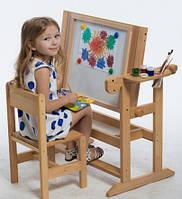 Детская Парта столик с мольбертом для рисования (без стула), фото 1