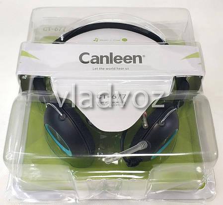 Игровые наушники с микрофоном 3,5 мм. геймерские для компьютера ПК игр Canleen CT-677, фото 2