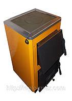 """КОТВ-12П твердотопливный котел """"Огонек"""" с плитой для приготовления пищи мощностью 12 кВт."""