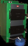 КОТВ-50Турбо-твердотопливный котел 50 кВт с поддувом и контролем температуры  (Доставка по Украине)