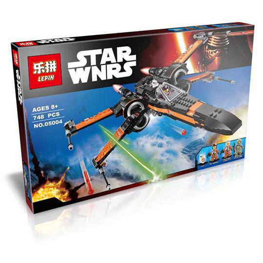 """Конструктор Lepin 05004 """"Истребитель По"""" (аналог Lego Star Wars 75102), 748 дет"""