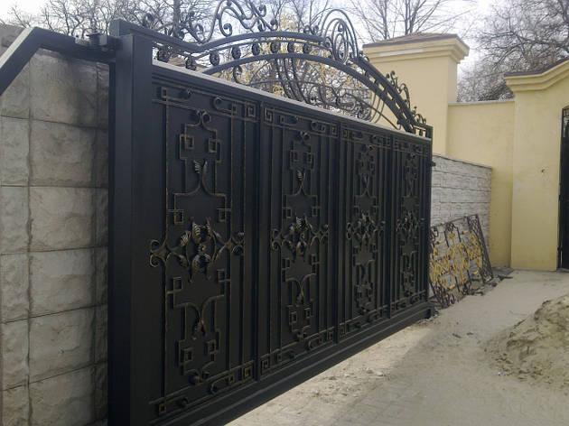 Ворота кованые откатные, фото 2