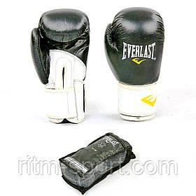 Перчатки боксерские Everlast кожа 12 унций