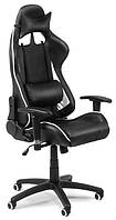 Офисный стул-кресло на колесиках черного цвета Formula white/black