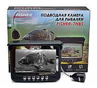 Подводная видеокамера для рыбалки Fisher CR110-7HBS 15m с солнцезащитным козырьком! Гарантия!