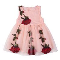 Платье с вышитыми розами размер 92., фото 1
