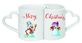 Чашки парні «Merry Christmas»