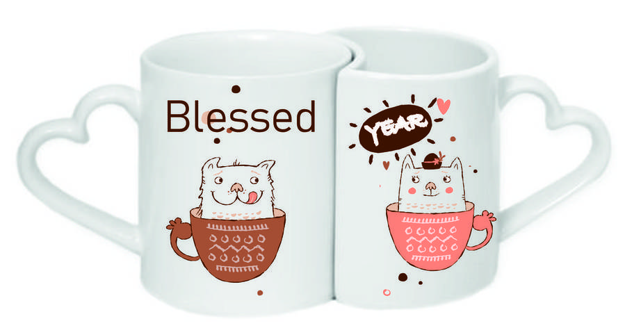 Чашки парні «Blessed year!», фото 2
