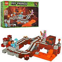 """Конструктор Minecraft """"Подземная железная дорога"""" (аналог Lego Майнкрафт 21130), фото 1"""
