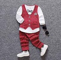 Дитячий костюм для хлопчика червоний 100