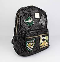 Компактный городской рюкзак с пайетками 0883 черный