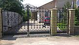 Ворота кованые распашные, фото 2
