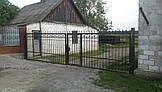 Ворота кованые распашные, фото 3