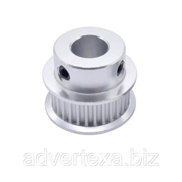 Ролик 30 зубов для ремня GT2 на вал 8 мм. (ЧПУ 3D)