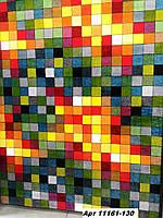 Ковёр цветной с рисунком квадраты разные