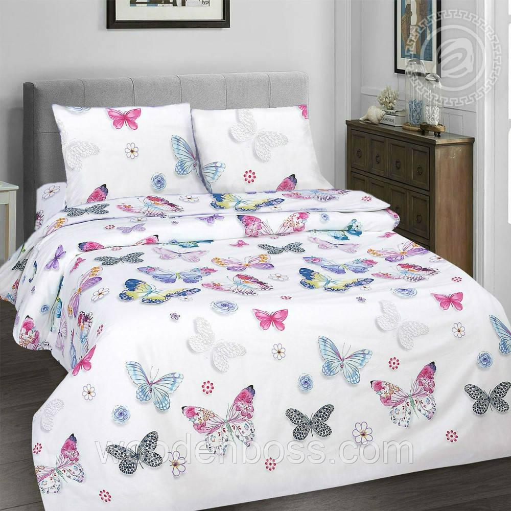 """Комплект постельного белья """"Бабочки без компаньона"""", поплин"""
