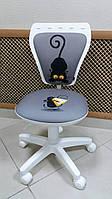 Детское компьютерное  кресло MINISTYLE WHITE (Министиль белый кот мышь) CAT & MOUSE