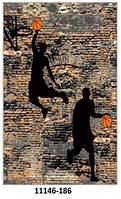 Ковёр цветной со спортивным рисунком футболист,велосипедист,баскетболист, фото 1