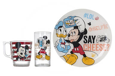 Набор детский LUMINARC DISNEY PARTY MICKEY 3 предмета (L4871)