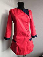 Красный медицинский костюм с брюками