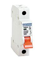 Автоматический выключатель Hyundai HIBD63-N 16А, 25А, 32А 1P, C 6КА
