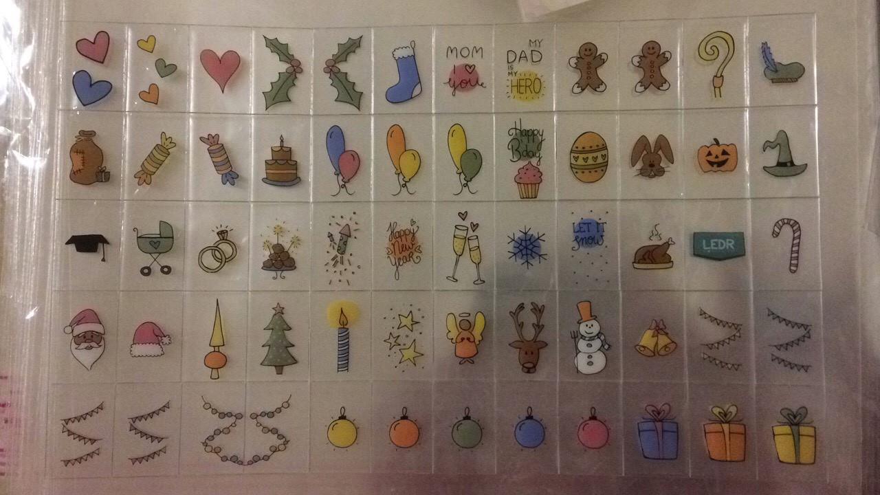 Дополнительный набор праздничных рисунков для лайтбокса