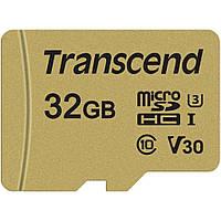 Карта памяти Transcend 32GB microSDHC class 10 UHS-I U3 V30 (TS32GUSD500S)