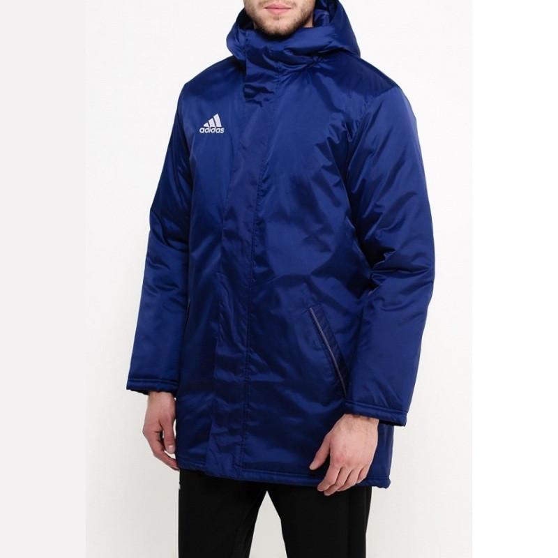 Куртка парка спортивная мужская adidas Core 15 Stadium J S22294 (синяя, осень-зима, синтепон, логотип адидас)