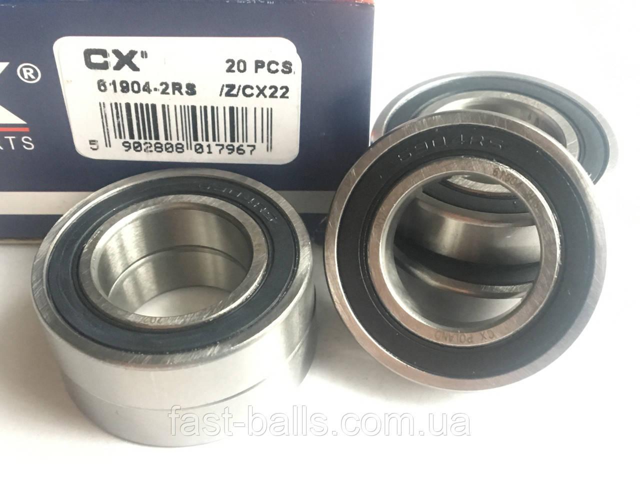 Подшипник CX 61904 2RS (20x37x9) однорядный