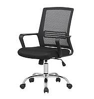 Кресло офисное Ворк CH TILT черного цвета из ткани