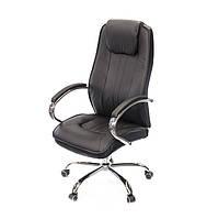 Кресло офисное Глория CH TILT чёрного цвета из экокожи