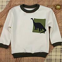 Свитшот с динозавром для мальчика. Теплый детский джемпер | Толстовка для хлопчика