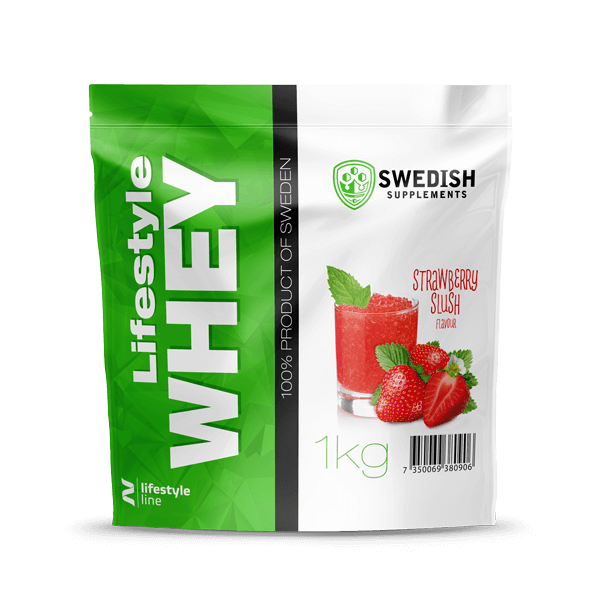 Swedish supplements - LS Whey Protein - 1kg Stawberry Slush