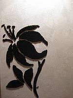 Бархатные рисунки на отточенто-напыления бархатные