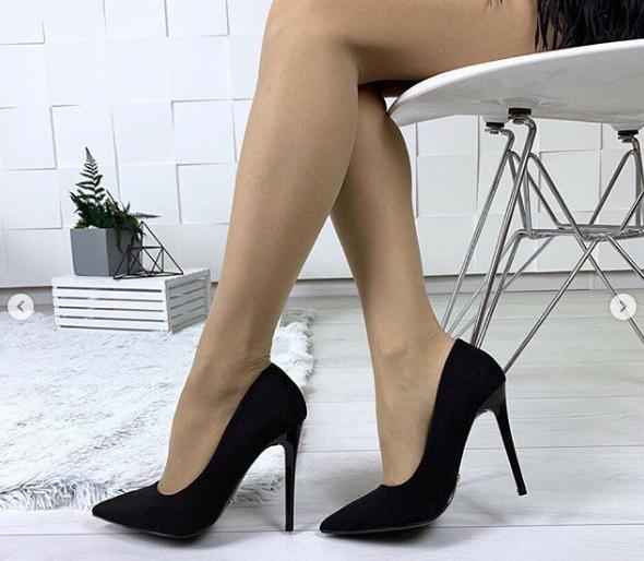 344d936e4 Туфли женские лодочки недорого черный замш - интернет-магазин обуви