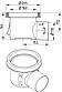 Промисловий трап Blucher 726.502.110, нержавіюча сталь, горизонтальний вихід DN110, фото 2