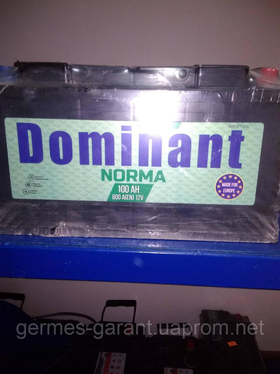 Аккумулятор DOMINANT NORMA 12V 100AH 800A