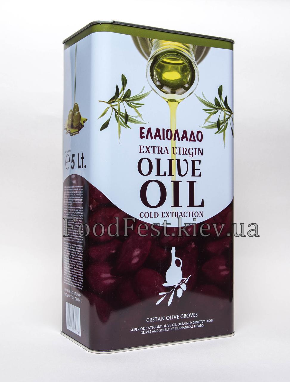 Масло оливковое Olio Extra Vergine di Oliva (Греция) 5л