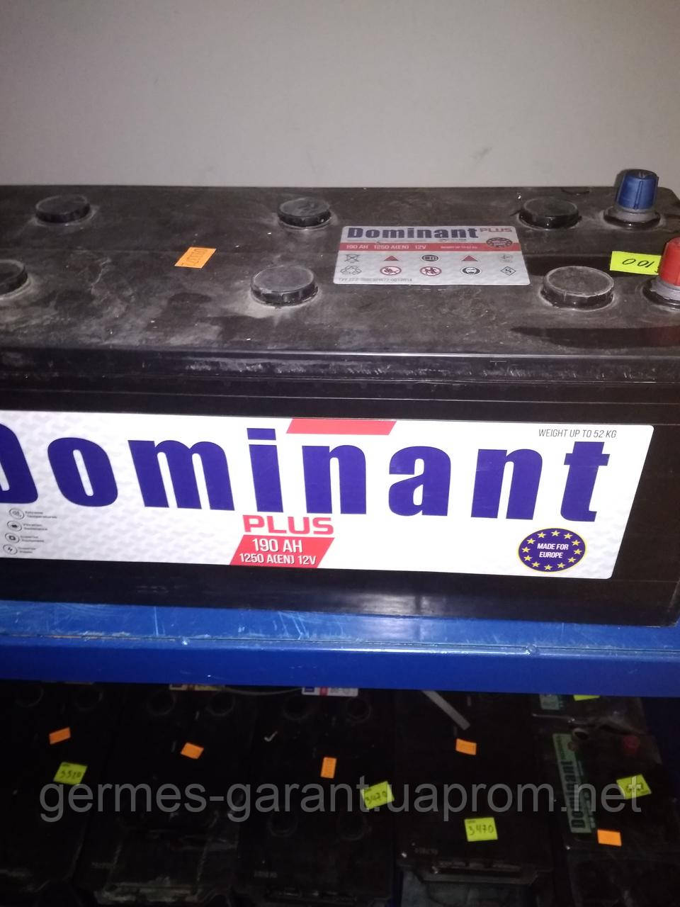 Акумулятор DOMINANT PLUS 12V 190AH 1250A