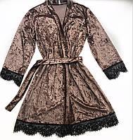 Женский халат S-M размер мокко