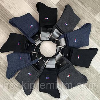 Носки женские махровые х/б Tommy Hilfiger, 36-40 размер, средние, ассорти, 11152