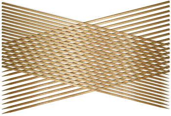 Набор шампуров 25 см, бамбук
