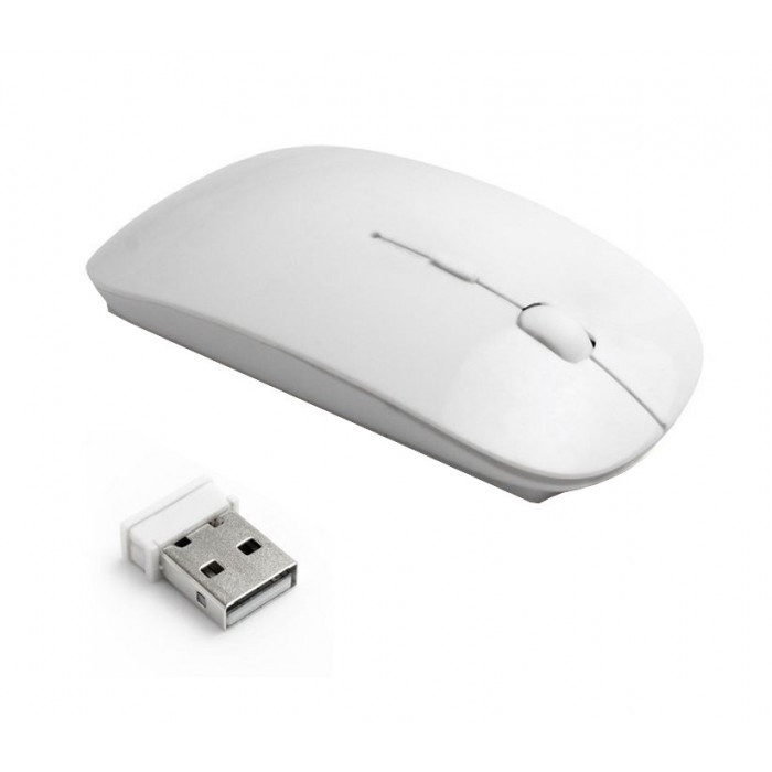 Бездротова ультратонка миша мишка Біла