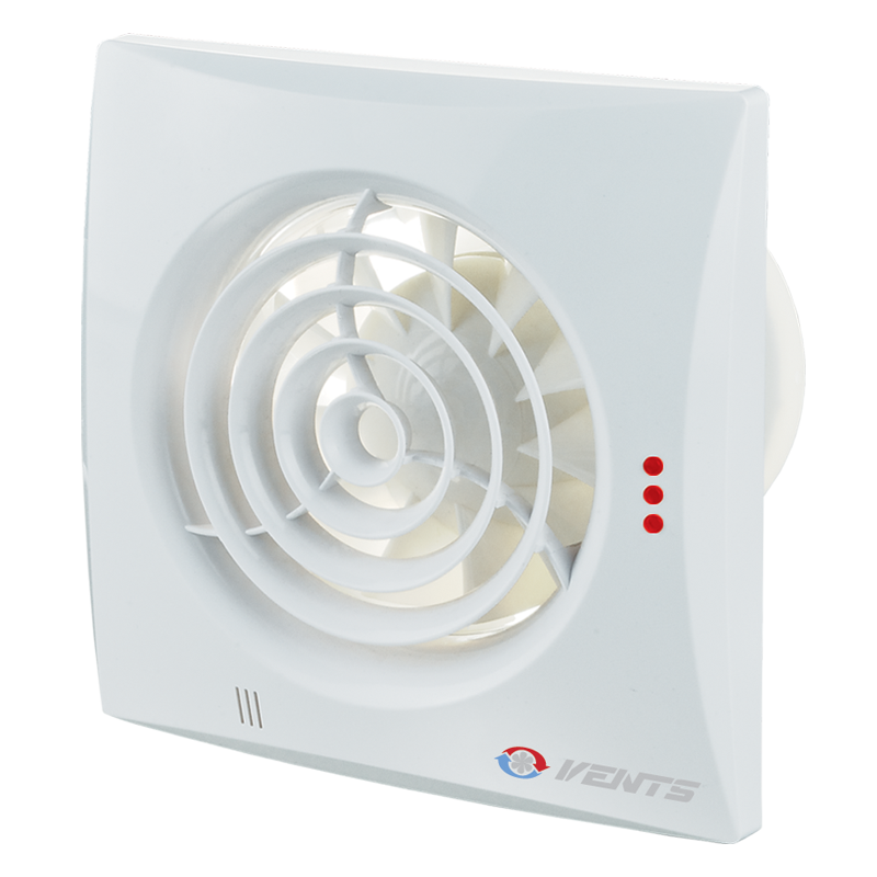 Вентилятор осевой Вентс Квайт 100 Т, таймер, вытяжной, мощность 7,5Вт, объем 97м3/ч, 220В, гарантия 5лет
