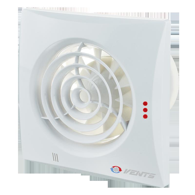 Вентилятор осевой Вентс Квайт 125 В, микровыключатель, вытяжной, 17Вт, 185м3/ч, 220В, гарантия 5лет