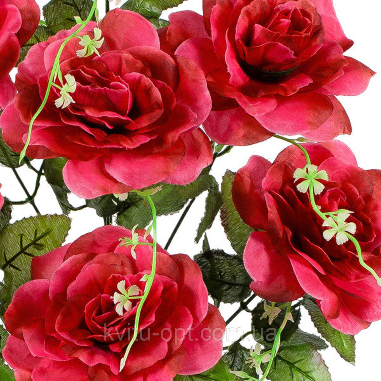 Букет искусственных роз, 53 см