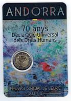 Андорра 2 євро 2018 р. 70-річчя загальної декларації прав людини