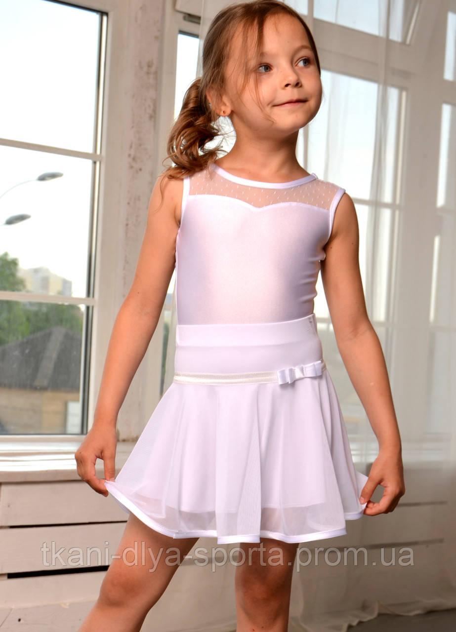 Танцевальная юбка на кокетке белая