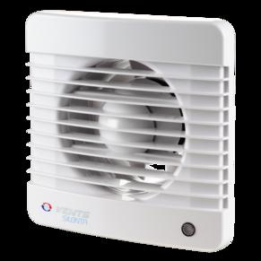 Вентилятор осевой Вентс 125 Силента-М ВК,выключатель, клапан, 9,1Вт, объем 152м3/ч, 220В, гарантия 5лет
